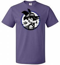 Buy Saiyan Quest Unisex T-Shirt Pop Culture Graphic Tee (S/Purple) Humor Funny Nerdy Geek