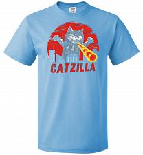 Buy Catzilla Unisex T-Shirt Pop Culture Graphic Tee (6XL/Aquatic Blue) Humor Funny Nerdy