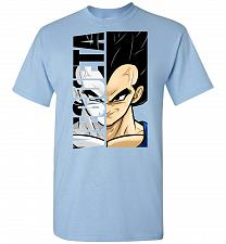 Buy Vegeta Unisex T-Shirt Pop Culture Graphic Tee (L/Light Blue) Humor Funny Nerdy Geeky