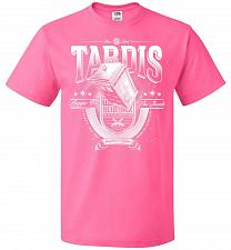 Buy Anywhere and Everywhere Tardis Unisex T-Shirt Pop Culture Graphic Tee (L/Neon Pink) H
