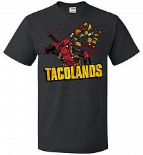 Buy Tacolands Unisex T-Shirt Pop Culture Graphic Tee (L/Black) Humor Funny Nerdy Geeky Sh