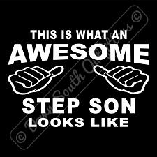 Buy This Is What An Awesome Step Son Looks Like T-shirt (16 Tee Colors)