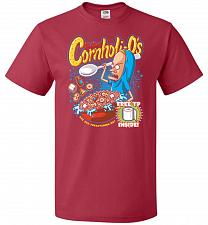 Buy Cornholios Unisex T-Shirt Pop Culture Graphic Tee (S/True Red) Humor Funny Nerdy Geek