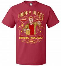Buy Gilmore's Happy Place Adult Unisex T-Shirt Pop Culture Graphic Tee (2XL/True Red) Hum