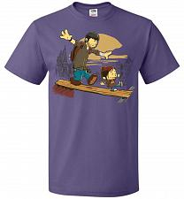 Buy Just the 2 of Us Unisex T-Shirt Pop Culture Graphic Tee (2XL/Purple) Humor Funny Nerd