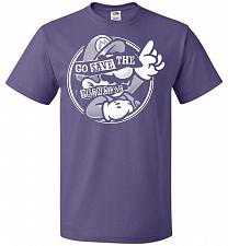 Buy Go Save The Princess Unisex T-Shirt Pop Culture Graphic Tee (2XL/Purple) Humor Funny