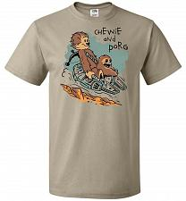 Buy Chewie and Porg Unisex T-Shirt Pop Culture Graphic Tee (3XL/Khaki) Humor Funny Nerdy