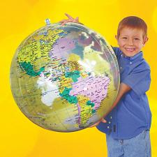 """Buy 2pcs 16"""" Political Globe Transparent Clear Inflatable Teacher Gifts Students"""