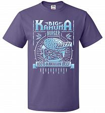 Buy Big Kahuna Burger Adult Unisex T-Shirt Pop Culture Graphic Tee (4XL/Purple) Humor Fun