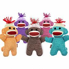 Buy Baby Socke Affe Puppe 7.25 Gefüllte Plüsch Rosa Lila Braun Tier Klassisch