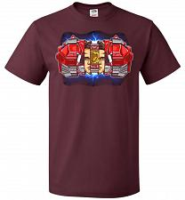 Buy Red Ranger Unisex T-Shirt Pop Culture Graphic Tee (4XL/Maroon) Humor Funny Nerdy Geek