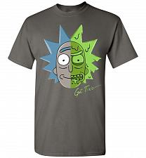 Buy Get Toxic Rick and Morty Unisex T-Shirt Pop Culture Graphic Tee (M/Charcoal) Humor Fu