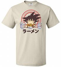 Buy Saiyan Ramen Unisex T-Shirt Pop Culture Graphic Tee (3XL/Natural) Humor Funny Nerdy G