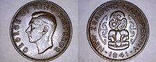 Buy 1941 New Zealand Half 1/2 Penny World Coin - Lot#9865