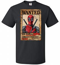 Buy Deadpool Wanted Poster Youth Unisex T-Shirt Pop Culture Graphic Tee (Youth M/Black) H