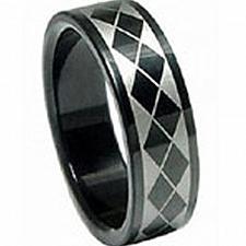 Buy coi Jewelry Black Titanium Checkered Flag Ring