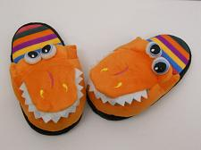 Buy Children T-REX Slippers Boys Girls Kids House Shoes SIZE M Slippers Orange