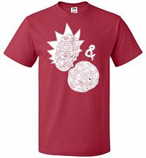 Buy Rick N Morty Unisex T-Shirt Pop Culture Graphic Tee (2XL/True Red) Humor Funny Nerdy