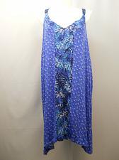 Buy Womens Knit Chemise Plus Size 4X 26W 28W Blue Print V-Neck Secret Treasures