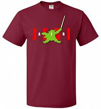 Buy Air Jedi Unisex T-Shirt Pop Culture Graphic Tee (5XL/Cardinal) Humor Funny Nerdy Geek