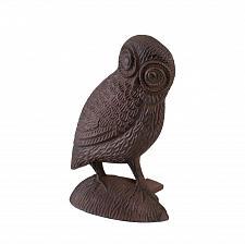 Buy *15808U - Owl Door Stopper Brown Cast Iron Figure