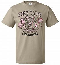 Buy Fire Type Champ Pokemon Unisex T-Shirt Pop Culture Graphic Tee (5XL/Khaki) Humor Funn