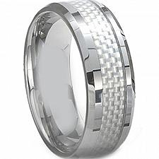 Buy coi Jewelry Cobalt Chrome Ring With Carbon Fiber - CR2287(Size:US5)