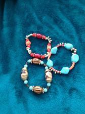 Buy set of 3 blue beaded bracelet