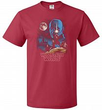 Buy Wizard Wars Unisex T-Shirt Pop Culture Graphic Tee (S/True Red) Humor Funny Nerdy Gee
