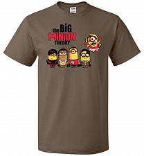 Buy The Big Minion Theory Unisex T-Shirt Pop Culture Graphic Tee (M/Chocolate) Humor Funn