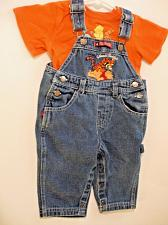 Buy Winnie the Pooh 100 Acre Woods Classic Forest Buddies Overalls & Shirt 12 Mo.