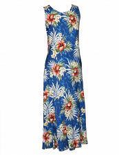Buy Ladies Weilana Long Maxi Navy Hawaiian Dress #949R-W-N sz L