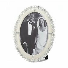 Buy *16934U - Rhinestone Shine Oval Picture Frame Holds 5x7 Photo