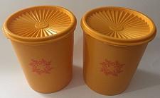 Buy Vintage Tupperware 2 Canisters #809-6 with Servalier Lids Goldenrod/Orange