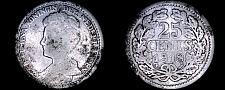 Buy 1918 Netherlands 25 Cent World Silver Coin - Wilhelmina I