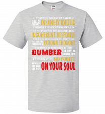 Buy Insanely Idiotic Adult Unisex T-Shirt Pop Culture Graphic Tee (M/Ash) Humor Funny Ner