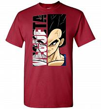 Buy Vegeta Unisex T-Shirt Pop Culture Graphic Tee (3XL/Cardinal) Humor Funny Nerdy Geeky