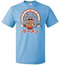 Buy The Neighbor's Ramen Unisex T-Shirt Pop Culture Graphic Tee (M/Aquatic Blue) Humor Fu