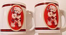 Buy Set of 2 White Bear Holding Teddy Bear Christmas Mugs Houston Harvest 2003