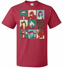 Buy Final Pop Unisex T-Shirt Pop Culture Graphic Tee (4XL/True Red) Humor Funny Nerdy Gee