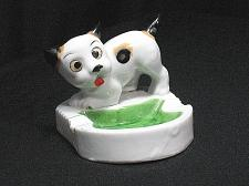 Buy Porcelain Dog Puppy Figural Ashtray Snuffer Japan Style Vintage