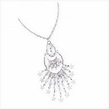 Buy 39515U - Celestial Shimmer Star Pendant Necklace Jewelry