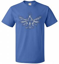 Buy Triforce Smoke Unisex T-Shirt Pop Culture Graphic Tee (5XL/Royal) Humor Funny Nerdy G