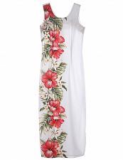 Buy Ladies Long Hawaiian Dress Side Design Big Hibiscus #KY-2LDB-477 size: XL