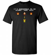 Buy It's Dangerous To Go Alone! Classic Zelda Unisex T-Shirt Pop Culture Graphic Tee (2XL