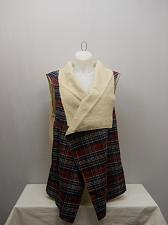 Buy Womens Vest Shearling Wrap PLUS SIZE 4X CONCEPTS Plaid Wide Collar Sleeveless