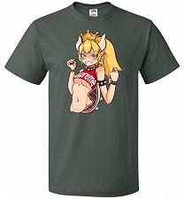 Buy Bowsette Unisex T-Shirt Pop Culture Graphic Tee (6XL/Forest Green) Humor Funny Nerdy