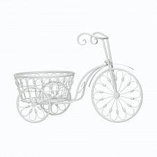Buy *18026U - White Iron Bicycle Planter Pot Plant Garden Décor