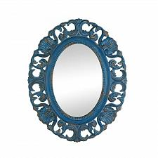Buy *17105U - Vintage Belle Blue Fir Wood Oval Wall Mirror