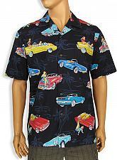 Buy Men's Cotton Hawaiian Shirt With Hot Cars Design #442-3771-C